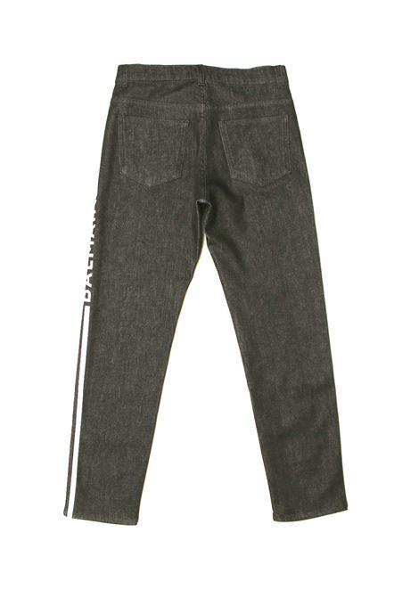 Jeans Balmain Kids BALMAIN | Jeans | 6O6620JEANS NERO LOGO BIANCO
