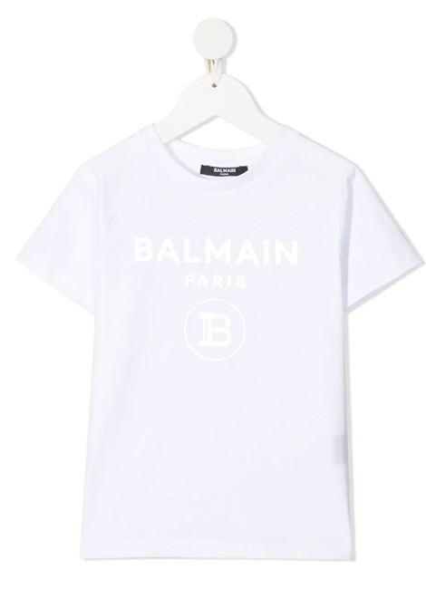 T-shirt Balmain Kids BALMAIN | T-shirt m/m | 6O8101BIANCO ARGENTO