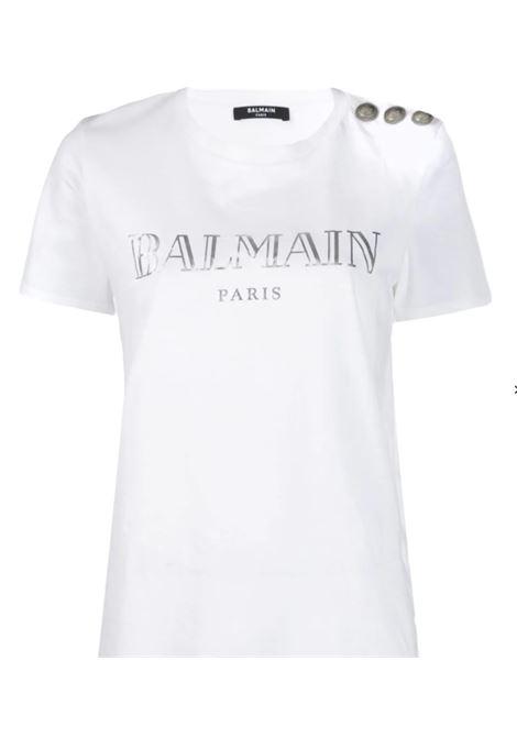 BALMAIN | T-shirt | TF11350I366B.CO ARGENTO