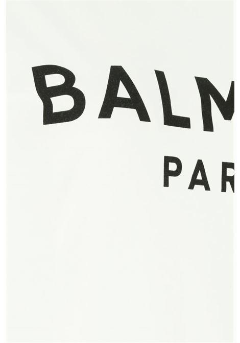 BALMAIN | T-shirt | VF11000B001BIANCO NERO