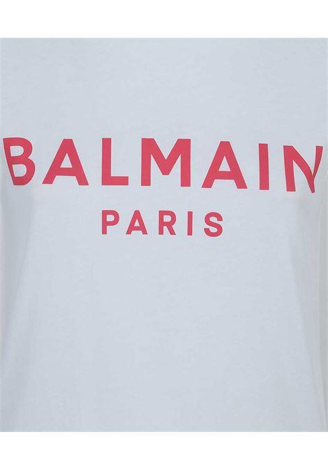 CANOTTA BALMAIN BALMAIN | T-shirt | VF11000B001BIANCO ROSA