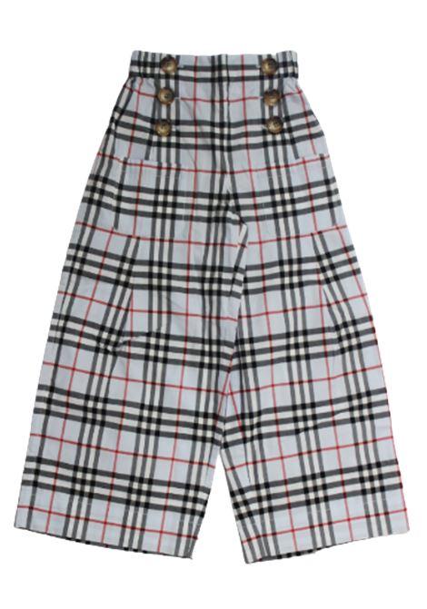 Pantalone Burberry BURBERRY | Pantalone | 8022473CHECK CIELO