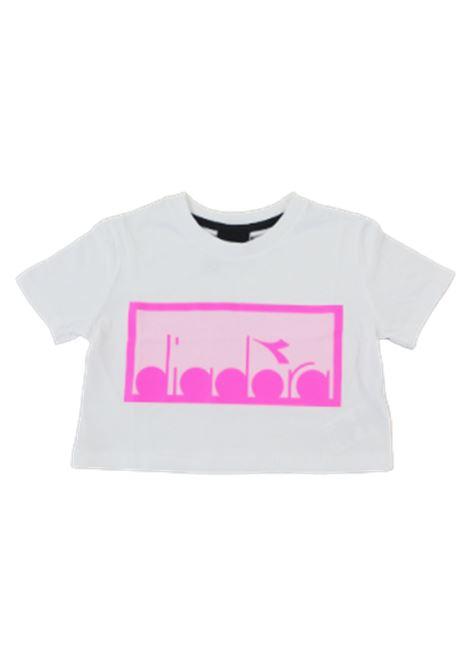 DIADORA | T-shirt | 022784BIANCO LOGO FUXIA