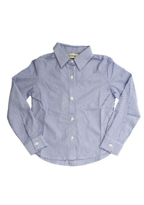DIXIE | shirt | CL09271G19RIGA BIANCO AZZURRO