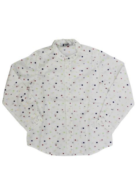 DONDUP   shirt   BC057BIANCO FANTASIA