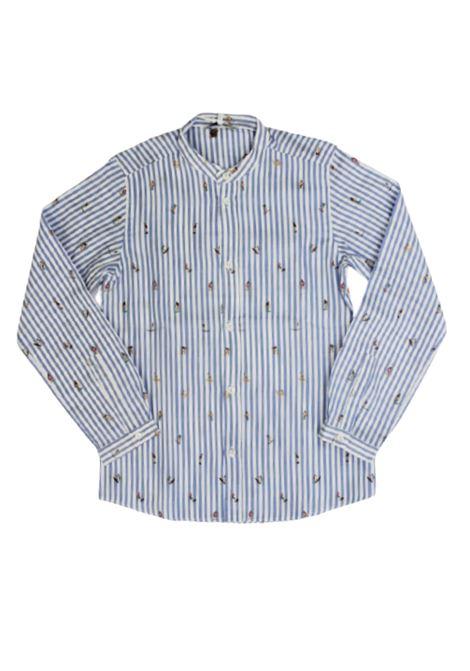 DONDUP   shirt   BC059CF461RIGA B.CO AZZURRO