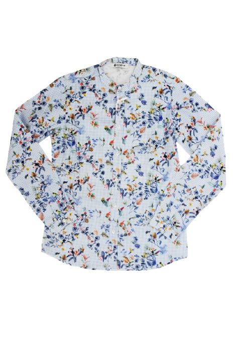 DONDUP   shirt   CF333AZZURRO FANTASIA