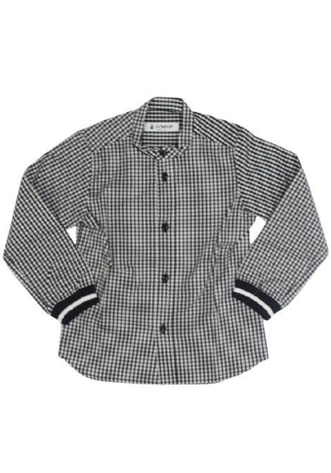 DONDUP   shirt   TY0008BQUADRI B.CO NERO