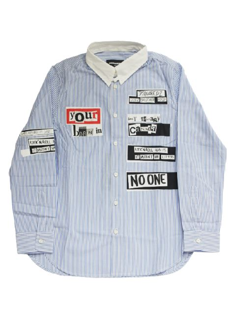 DSQUARED2 | shirt | DQ03VZRIGA B.CO AZZURRO