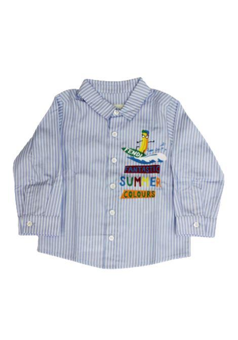 Camicia Fendi FENDI | Camicia | BMC038A1U1RIGA B.CO AZZURRO