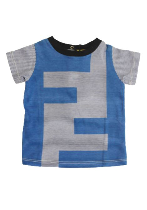 T-shirt Fendi FENDI | T-shirt | FEN67RIGA AZZURRO