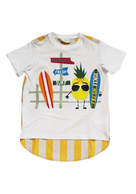 T-shirt Fendi FENDI | T-shirt | JMI180BIANCO FANTASIA