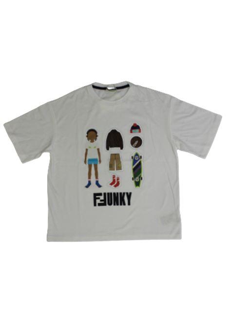 T-shirt Fendi FENDI | T-shirt | JMI3187AJF0TU9BIANCO