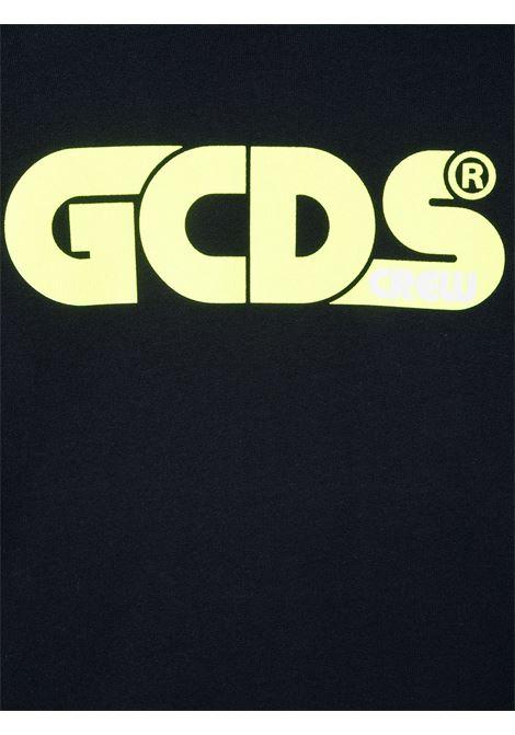 GCDS | sweatshirt | 027597BLU GIALLO FLUO