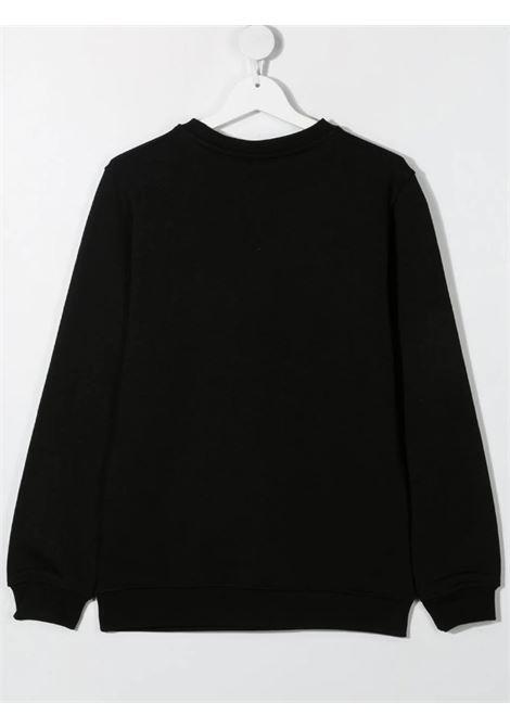 GCDS | sweatshirt | 027597NERO ARANCIO FLUO