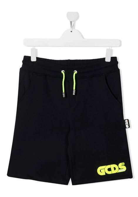 GCDS | Bermuda pants  | 027603BLU GIALLO FLUO