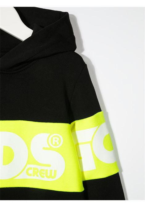 GCDS | sweatshirt | 027604NERO GIALLO FLUO
