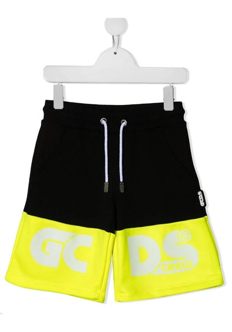 GCDS | Bermuda pants  | 027610NERO GIALLO FLUO
