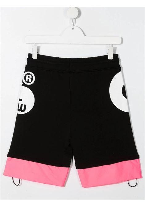 GCDS | Bermuda pants  | 027615NERO FUXIA FLUO