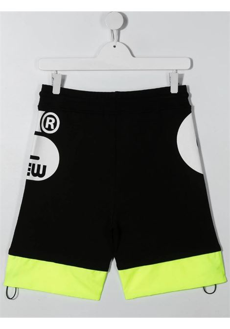 GCDS | Bermuda pants  | 027615NERO GIALLO FLUO