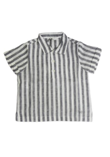 IL GUFO | shirt | ILG558RIGA B.CO GRIGIO