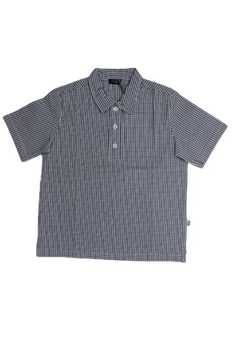 IL GUFO | shirt | P19PC060C3106QUADRI B.CO BLU