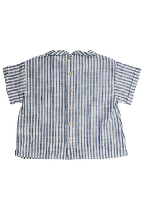 IL GUFO | shirt | P20CC063C1066RIGA B.CO AZZURRO