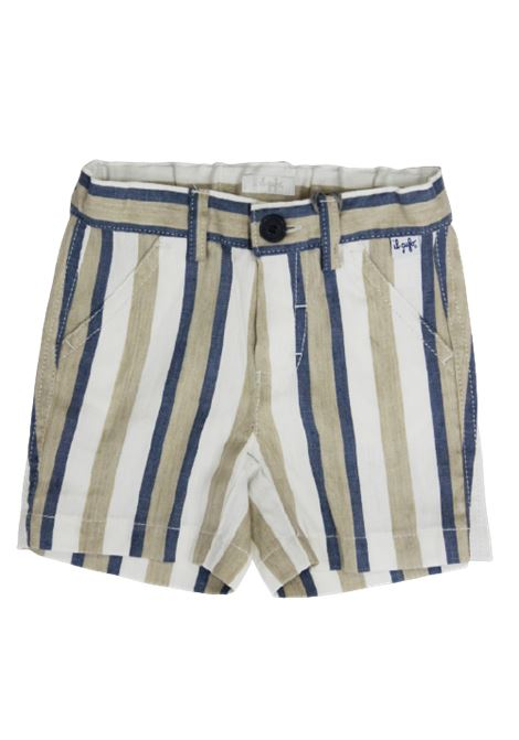 IL GUFO | Bermuda pants  | P20PB069C1065RIGA B.CO AZZURRO