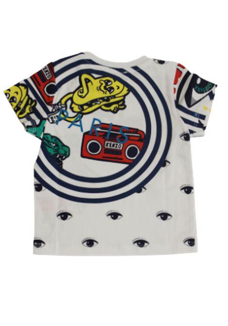 KENZO | T-shirt | KN10518BB01BIANCO FANTASIA