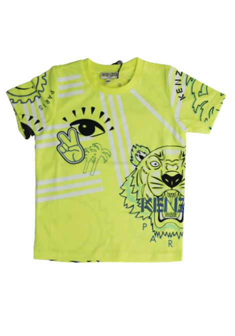 T-shirt KENZO KENZO   T-shirt   KQ10528GIALLO FLUO