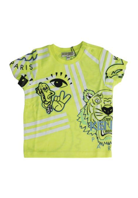T-shirt KENZO KENZO   T-shirt   KQ10537GIALLO FLUO