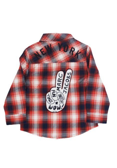 LITTLE MARC JACOBS | shirt | W25407/X58QUADRI ROSSO BLU