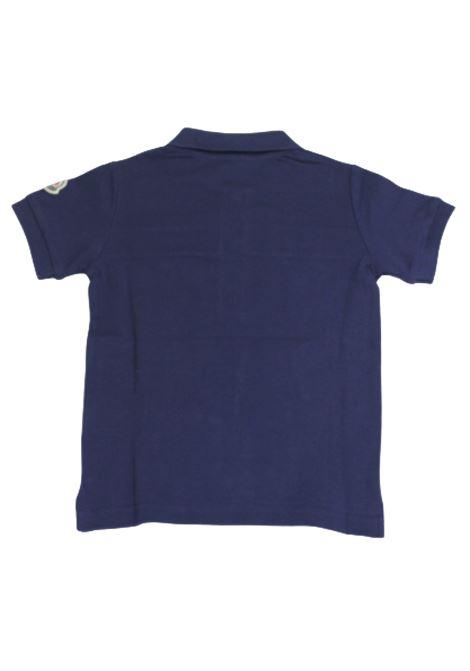 Polo Moncler MONCLER | T-shirt | F19548A703208496WbluBLU