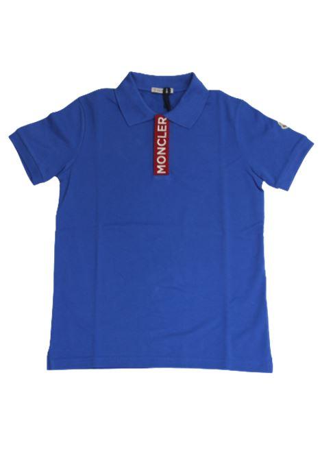 Polo Moncler MONCLER | T-shirt | F19548A707208496WBLUETTE