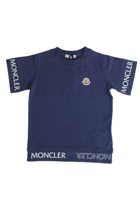 MONCLER | T-shirt | F19548C705108790ABLU