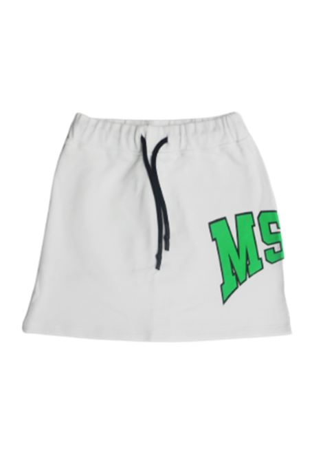 MSGM   skirt   022076BIANCO