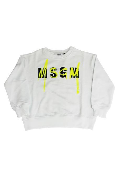Felpa MSGM MSGM | Felpa | 022079BIANCO