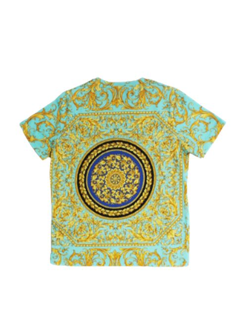 VERSACE   T-shirt   YD000080VERDE FANTASIA