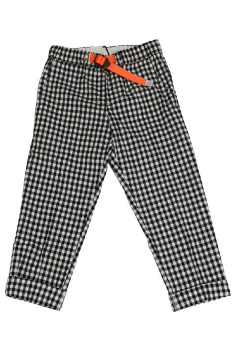 WHITE SAND | trousers | 20SZ16350BIANCO QUADRI NERO