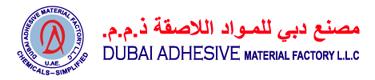 Dubai Adhesive Material Factory