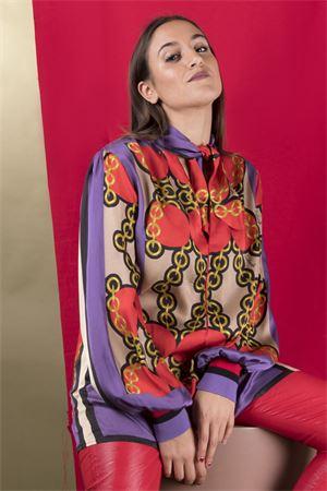 Blusa con fiocco fantasia CRISTINAEFFE MILANO CristinaEffe Milano | 6 | BLUSA VAMP05539