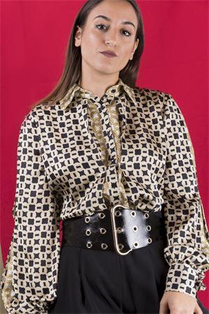 Camicia fiocco fantasia catene CRISTINAEFFE MILANO CristinaEffe Milano | 6 | CAMICIA ISABEL06136
