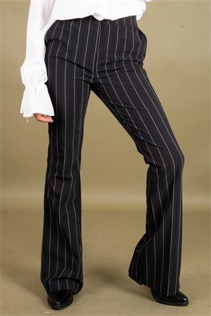 Pantalone in tecnico gessato zampa CRISTINAEFFE MILANO CristinaEffe Milano | 9 | PANTALONE CAMPANA05033