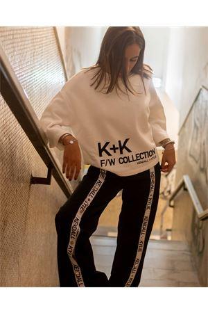 Felpa over manica 3/4 con logo KENDALL+KYLIE Kendall+kylie | -108764232 | B2104826501