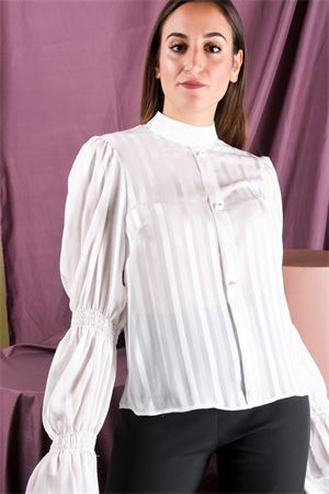 Camicia righe lucide manica arriciata MISS YOU MISS You | 6 | R17301