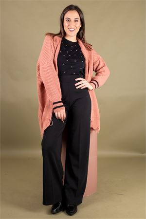 Cardigan lungo a coste con rotture SUSYMIX Susy Mix | 39 | 1908533301