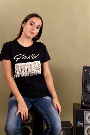 T-shirt frange stampa glitter gold SUSYMIX Susy Mix | 8 | LTN482501