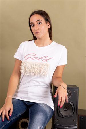 T-shirt frange stampa glitter gold SUSYMIX Susy Mix | 8 | LTN482502