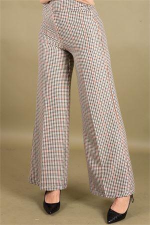 Pantalone gamba larga in micro pied de poule SUSYMIX Susy Mix | 9 | P1248M1601