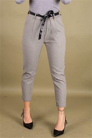 Pantalone micro check stretch con cintura SUSYMIX Susy Mix | 9 | PA965301